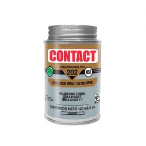HC111490 - Cemento Para Pvc Contact 202 4OZ Con Aplicador Transp Sec Rap