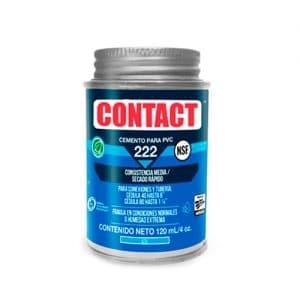 HC111493 - Cemento Para Pvc Contact 222 4OZ Con Aplicador Azul Secado Rapido