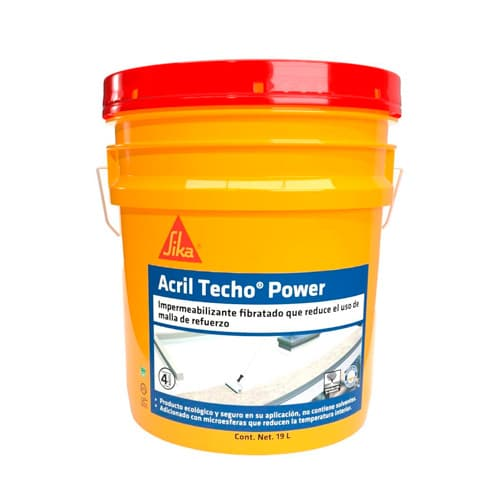 HC134426 - Acril Techo Power Blanco 4 A?os 19L Sika 432433